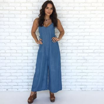 Feels Classic Denim Jumpsuit