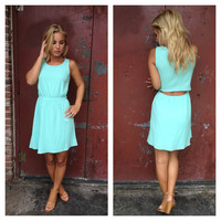 Mint Sleeveless Sarah Dress