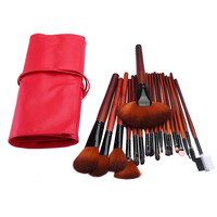 18 pcs Synthetic Professional Makeup Brushes Cosmetics Makeup Powder Foundation Blush Fan Eyeliner Brush Set