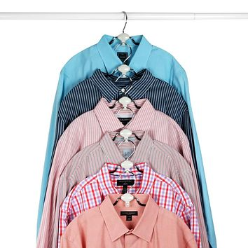 Evelots Metal Non Slip Rubber Coated Cascading Shirt, Blouse Hangers,
