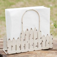 Set of 2 Picket Fence Napkin Caddy