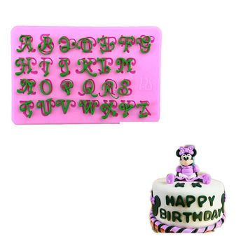 Alphabets Letters Embossing Decor 3D Silicone Mold Fondant Cake Mold Bakeware Cooking Tools Sugar Chocolate Cookie Cake Decor