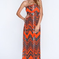 Orange Chevron Print Sexy Maxi Dress @ Amiclubwear sexy dresses,sexy dress,prom dress,summer dress,spring dress,prom gowns,teens dresses,sexy party wear,women's cocktail dresses,ball dresses,sun dresses,trendy dresses,sweater dresses,teen clothing,evening