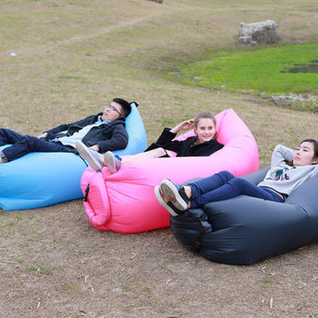 Sleeping Bag Outdoor Sofa  Camping Hiking Air Inflation Foldable Bed Siesta Chair Outdoor Sofa  Sleeping Bag Air Camping Hiking F