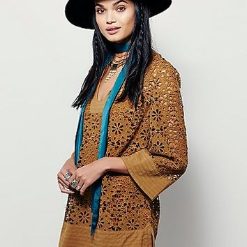 Free People Womens Love Found Lace Tunic