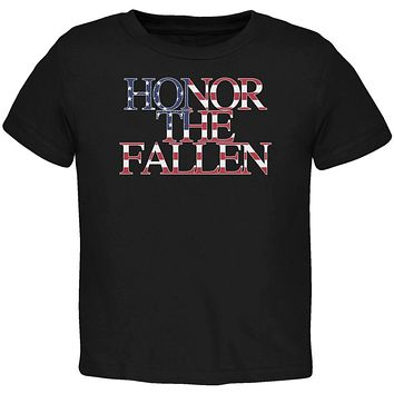 Honor the Fallen American Patriot Black Toddler T-Shirt