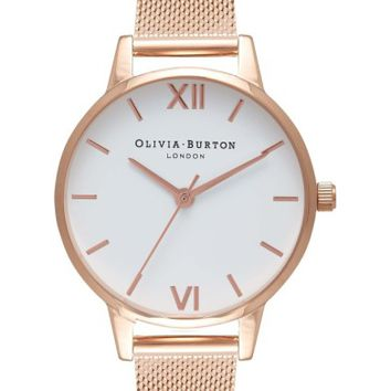 Olivia Burton Mesh Strap Watch, 30mm | Nordstrom