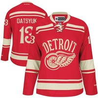 Reebok Pavel Datsyuk Detroit Red Wings 2014 Winter Classic Ladies Premier Hockey Jersey - Red