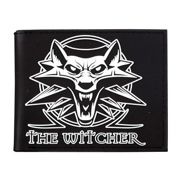 The Witcher 3 Wild Hunt Wolf Medallion Wallet Mens Credit Card Holder Purse