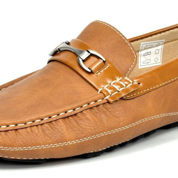 Bruno MARC MODA ITALY Men's Classic Fashion On The Go Driving Casual Loafers Boat Shoes Pepe-3-tan 6.5 D(M) US '