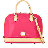 Dooney & Bourke Patent Leather Zip Satchel - Belk.com