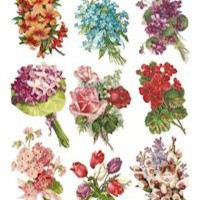 Bouquet Victorian Stickers
