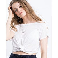 Twist And Shout Cropped Tee