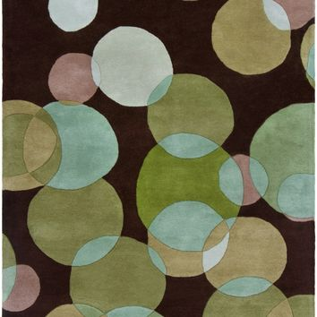 Avalisa Hand Tufted Rug Brown/Green