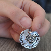 Always and Forever Heart Charm