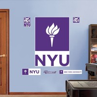 Fathead New York University Violets Wall Decals