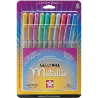 Sakura Metallic Gelly Roll Medium Point Pen, 10/pkg - Walmart.com