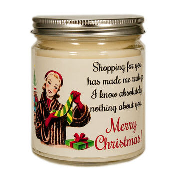 Christmas Candle, Holiday Candle, Custom Scented Candle, Christmas Gift, Container Candle, Soy Candle, Funny Christmas Candle