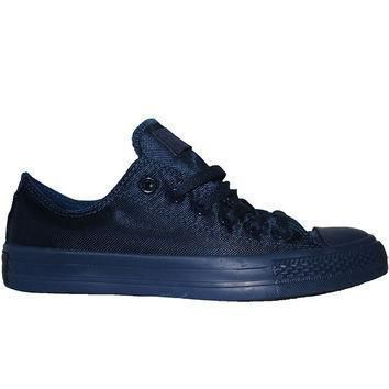 converse all star chuck taylor nylon mono lo midnight low top sneaker