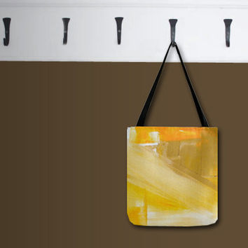 TOTE over the shoulder bag - abstract art - reusable eco-friendly - everyday bag - groceries books diaper gift