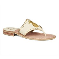 Exclusive Pineapple Sandal in Bone and Gold by Jack Rogers - FINAL SALE