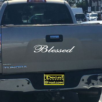 Blessed Tailgate Decal Sticker 4x4 Diesel Truck SUV