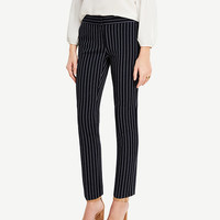 The Ankle Pant in Stripes - Kate Fit | Ann Taylor