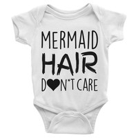 Mermaid Hair Don't Care Onesuit - Black