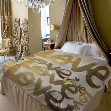 One Bella Casa Oliver Gal Four Letter Word Duvet Cover Collection