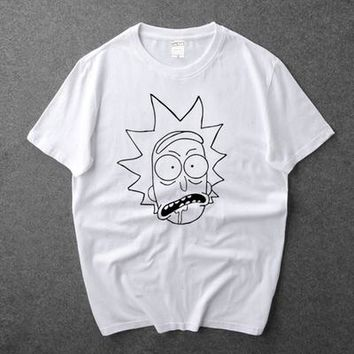 New Rick and Morty T-shirt Anime Free Rick Cosplay T Shirt Short Sleeve O-Neck Tees