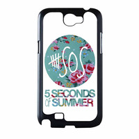 5 Seconds Of Summer Floral Pink Samsung Galaxy Note 2 Case