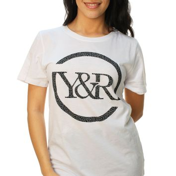 Young & Reckless Women's Full Circle Dots Short Sleeve Graphic T-Shirt