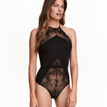H&M Microfiber and Lace Bodysuit $29.99