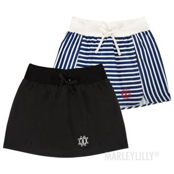 Monogrammed Tennis Skirt | Personalized Athleisure | Marleylilly