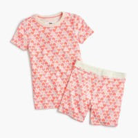 Girls' short-sleeve pajama set in hearts