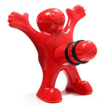 Wine Cork Bottle Plug Funny Happy Man Guy Wine Stopper Perky