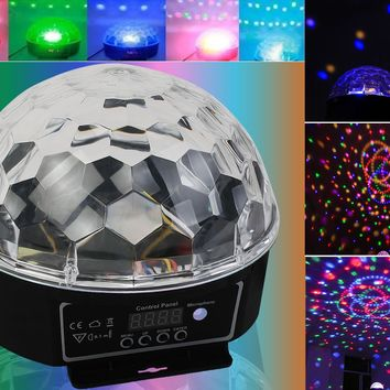 Disco Magic Ball DMX512 Stage Lighting Digital LED RGB Crystal DJ Effect Light