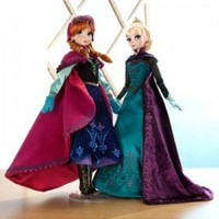 "Disney Store Frozen Limited Edition 17"" Doll Set including Coronation Elsa and Nordic Princess Anna"