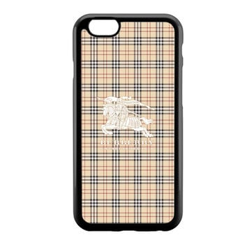 Burberry White Logo iPhone 6 Case
