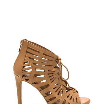 Cut-Out Of The Box Faux Leather Heels