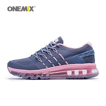 2017 Onemix men&women breathable Running Shoes aie cushion Sneakers outdoor walking shoes