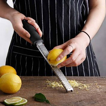12 Inch Rectangle Stainless Steel Cheese Grater Tools Chocolate Lemon Zester Fruit Peeler Kitchen Gadgets @LS