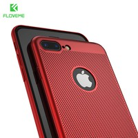 FLOVEME Breathe Freely Case For iPhone 7 6 6S Plus 5S 5 SE Case For iPhone 8 8 Plus X Heat Resistant Phone Accessories Capa