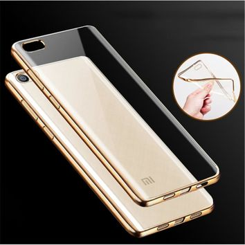 Luxury Slim Case for Xiaomi Mi5 Mi5S Plus Pro Case Original Silicone Cover for Xiaomi Mi 5 5S Plus TPU Phone Protect Soft Shell