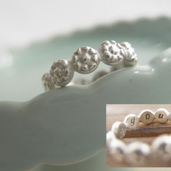 Daisy Ring, I Pick You Sterling Silver Daisy Ring,  I Pick U Ring, Flower Ring For Girls, Daisy Chain Ring, Stacking Ring, Stackable Ring