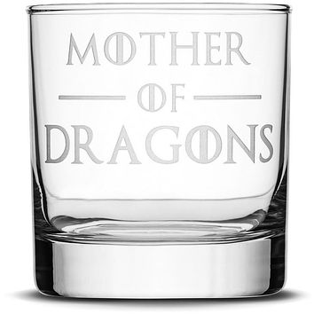 Premium Whiskey Glass, Game of Thrones, Mother of Dragons, 10oz