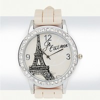 Pave Je t'aime Watch