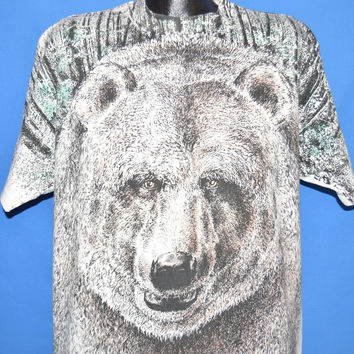 90s Brown Bear All Over Print t-shirt Extra Large