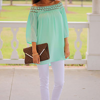 Shasta Blouse, Mint