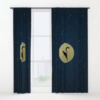 Cat silhouette Window Curtains by edrawings38